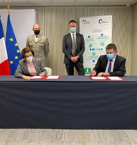 Signature d'une convention entre le Ministère des Armées et Cybermalveillance.gouv.fr