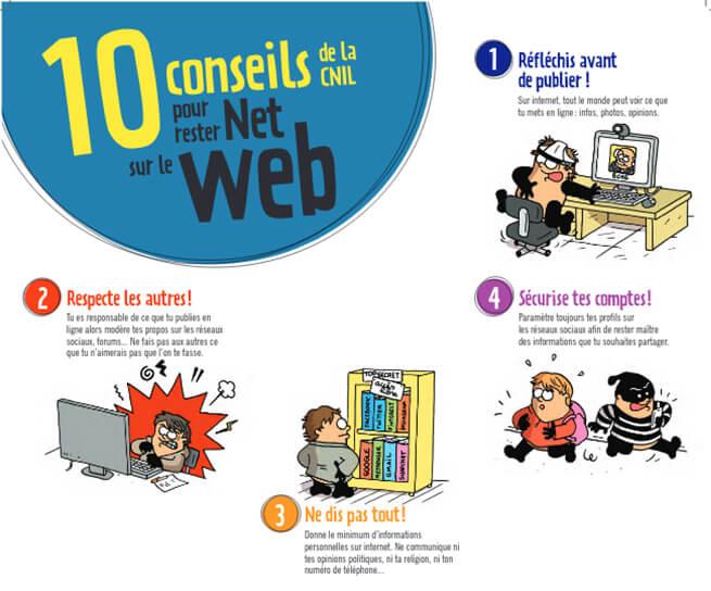 10 onseils pour rester net sur le web
